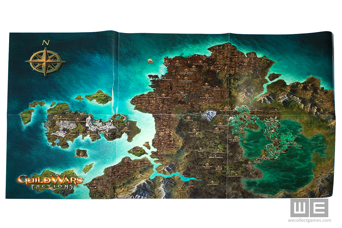 Guild Wars 1 World Map.Guild Wars Factions Collector S Edition We Collect Games