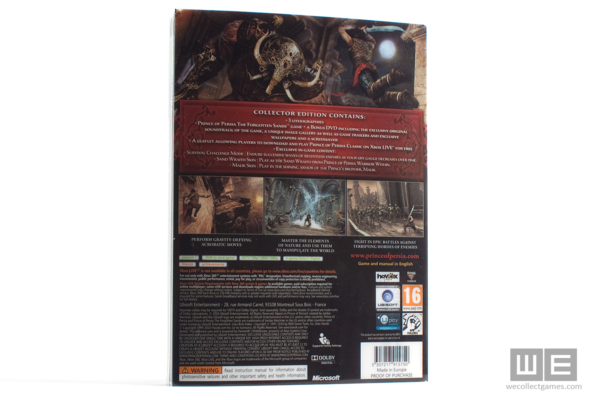 prince of persia the forgotten sands codes for pc