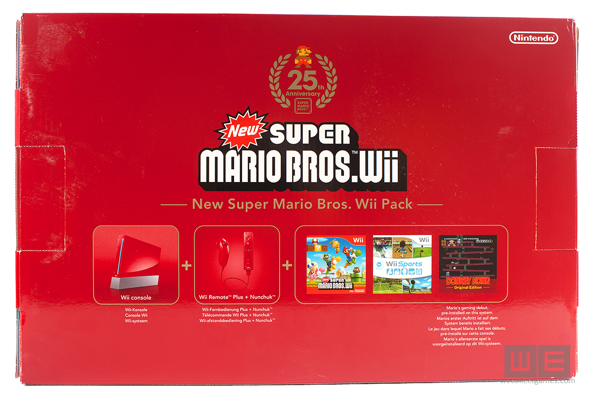 nintendo wii super mario 25th anniversary limited edition