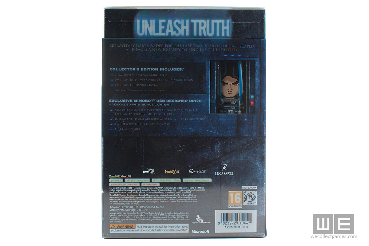 Star Wars The Force Unleashed 2 Collectors Edition