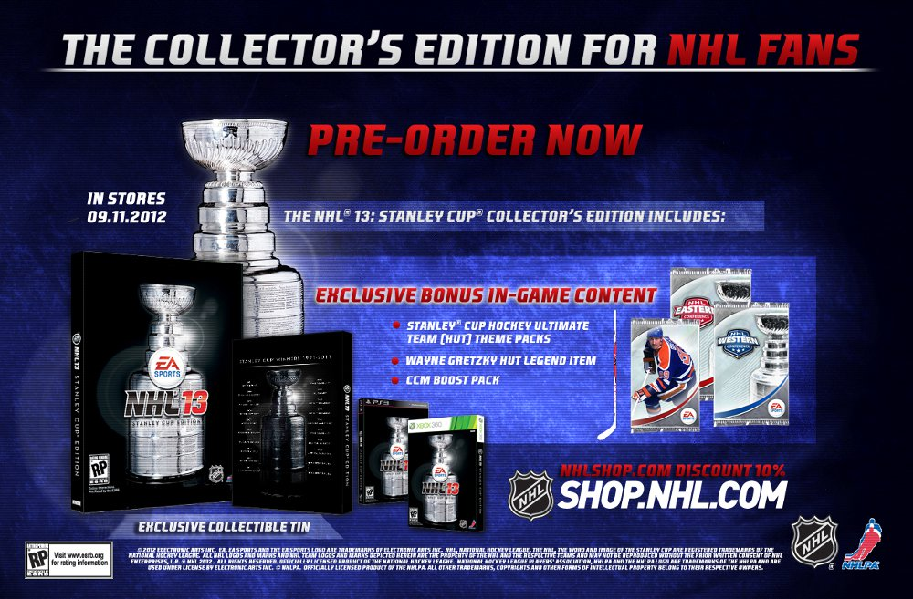 Nhl 13 stanley cup edition unboxing (nhl 13 collector's edition.