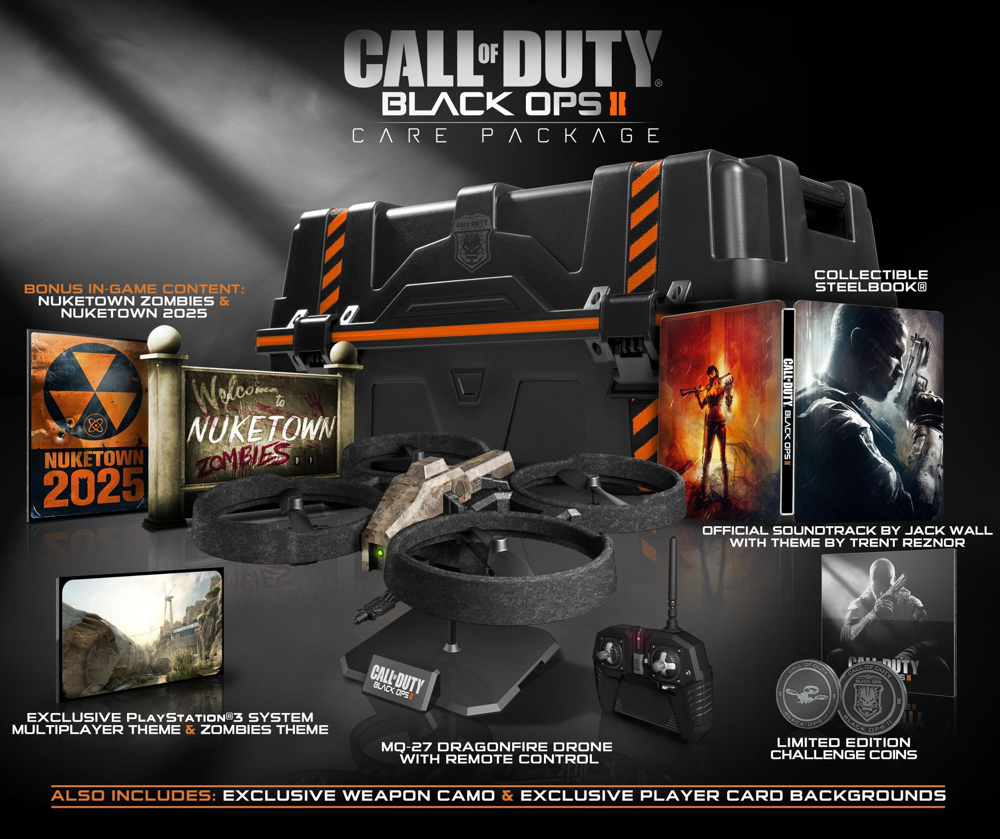 Call Of Duty Black Ops 2 Wallpaper: Call Of Duty Black Ops II Prestige Edition, Care Pack