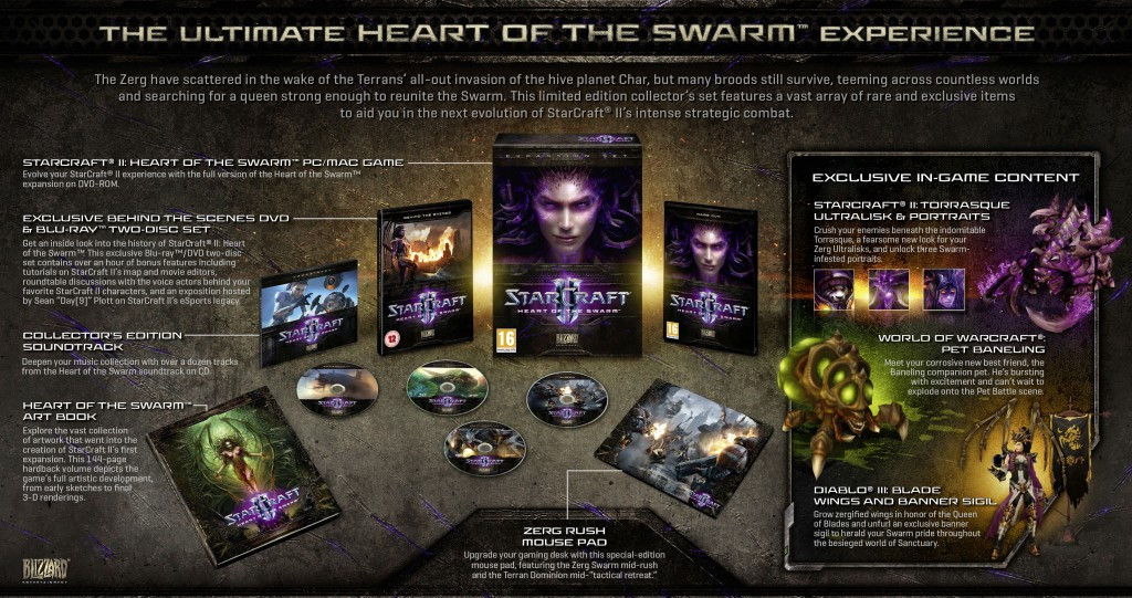 StarCraft II: Heart of the Swarm Collector's Edition - WE collect games