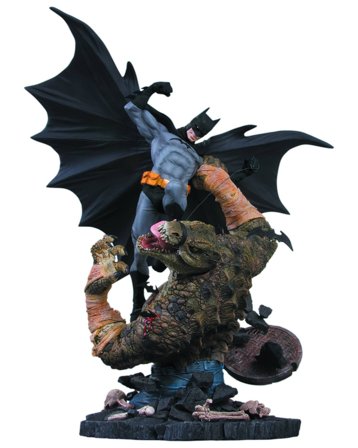 Batman vs Killer Croc Statue