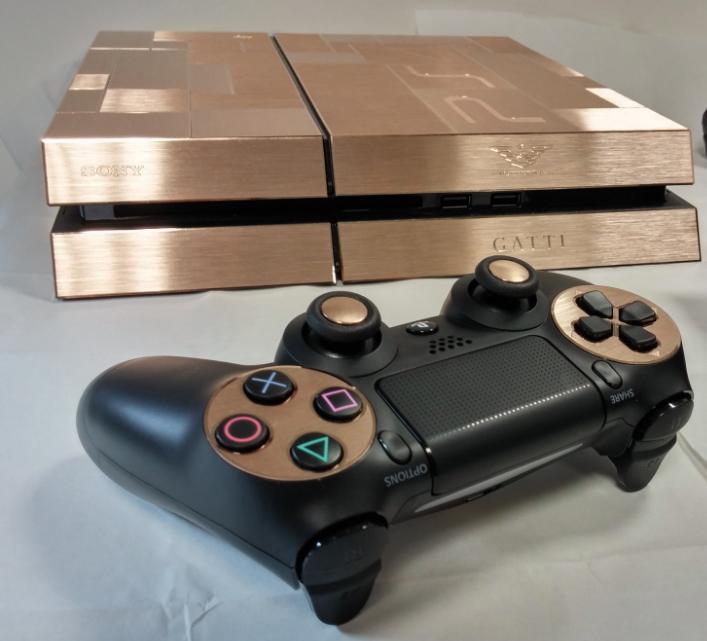 Gold PlayStation 4 by Gatti Luxury