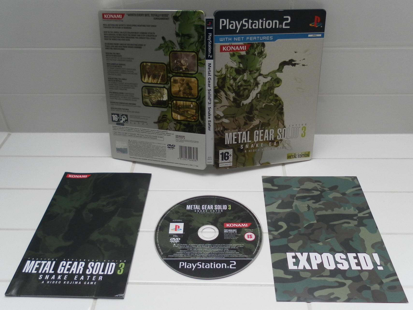 Metal Gear Solid 3 Steelbook