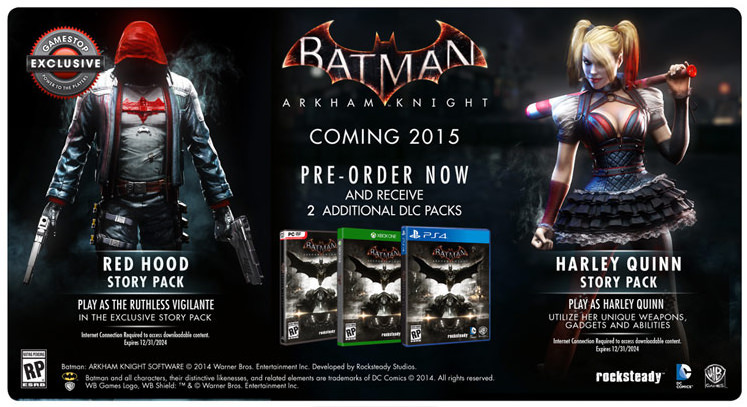 Batman: Arkham Knight Gamestop Exclusive Offer