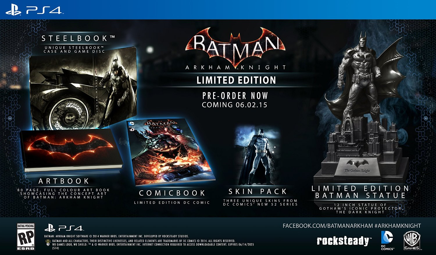 Batman: Arkham Knight Limited Edition contents