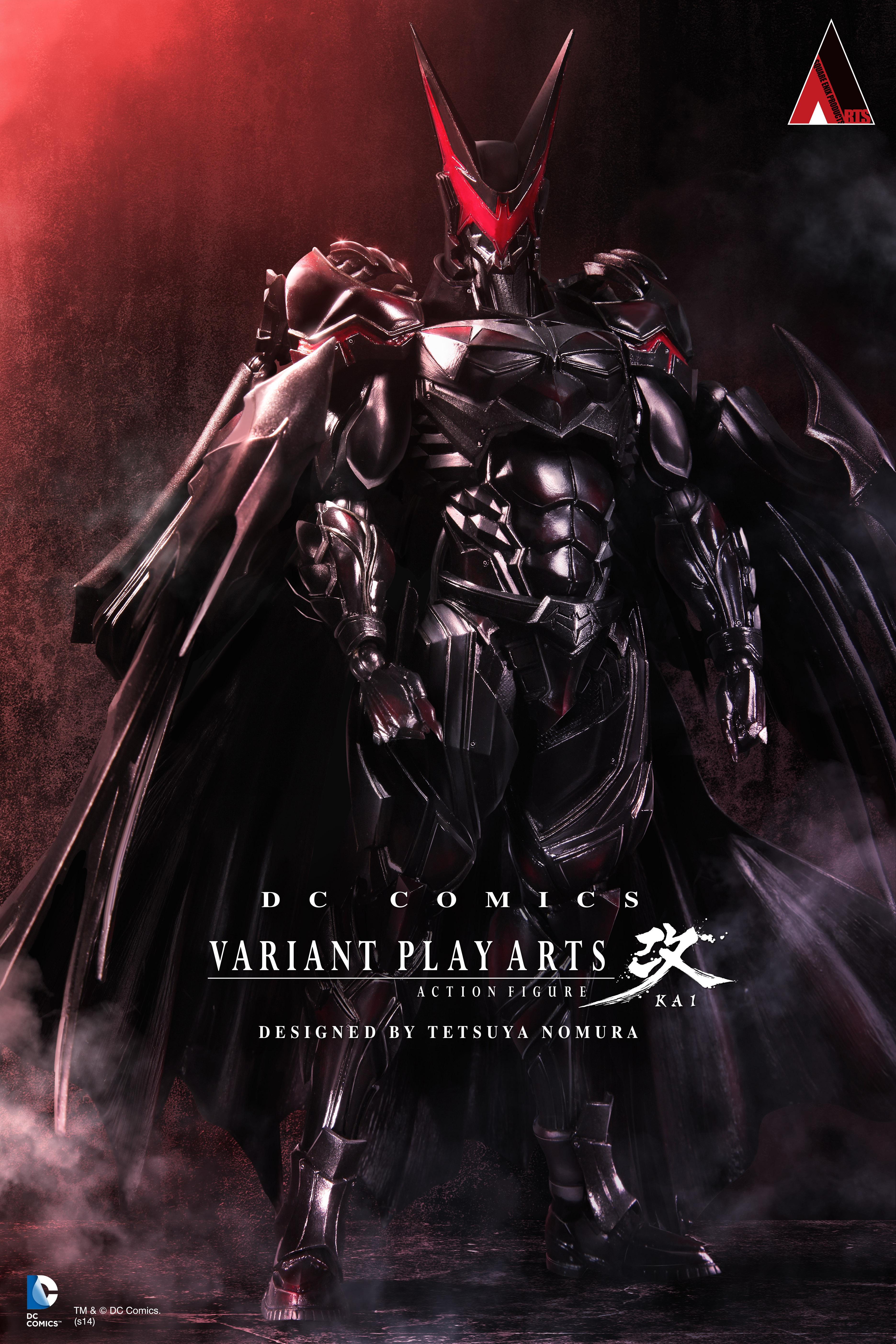 Superhero figurine by Tetsuya Nomura