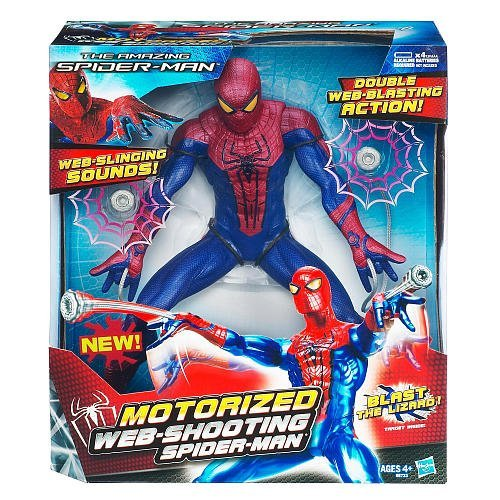 The Amazing Motorized Web Shooting SpiderMan Figure