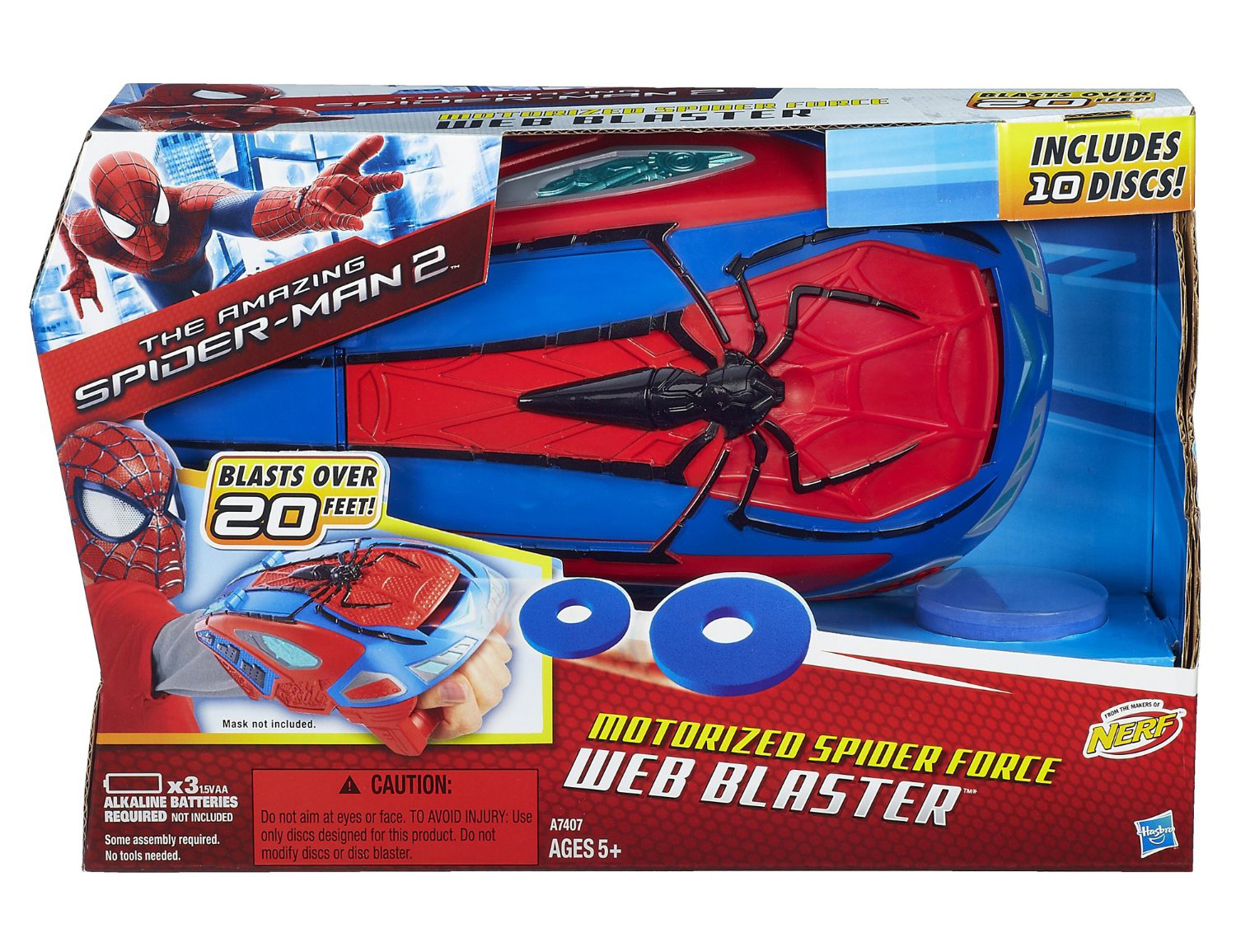 The Amazing Spider-Man 2 Motorized Spider Force Web Blaster