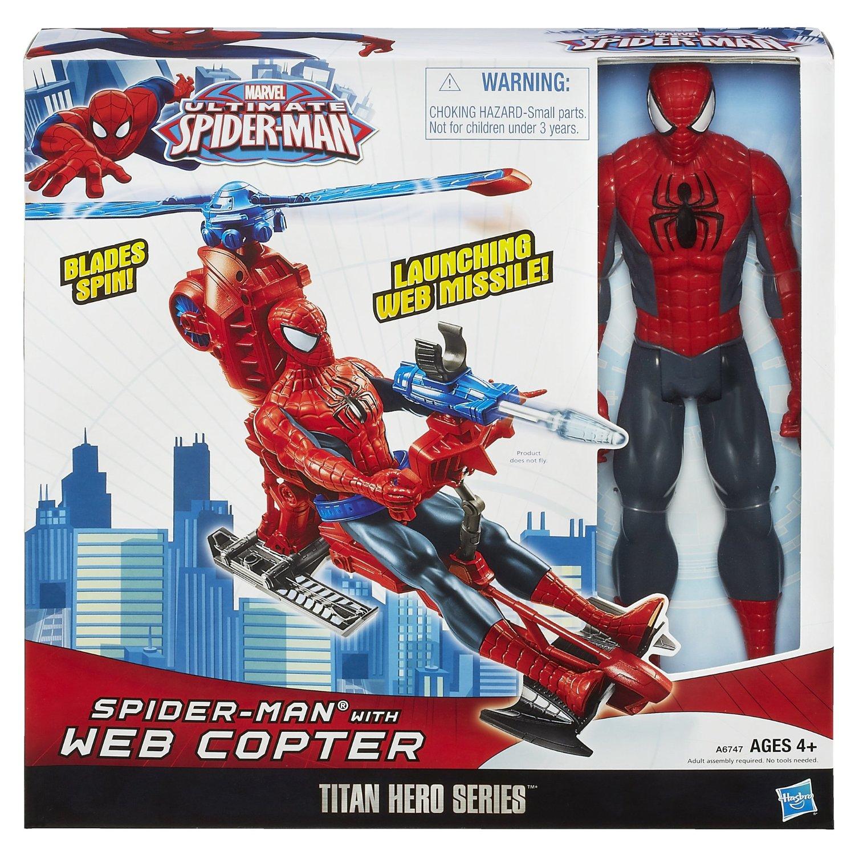 Titan Hero Series Spiderman Figure with Web Copter