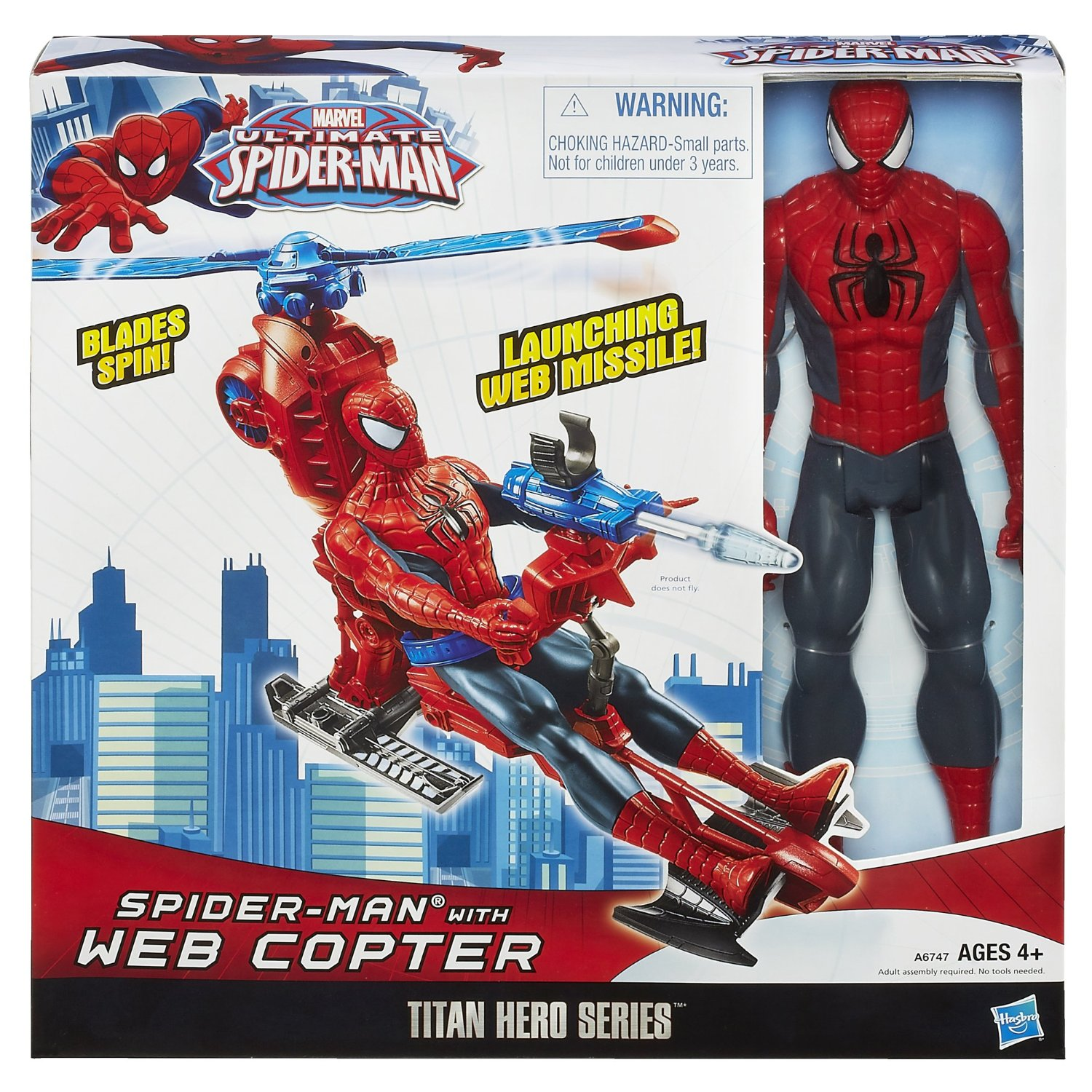 Titan Hero Series Spiderman Figure with Web Copter
