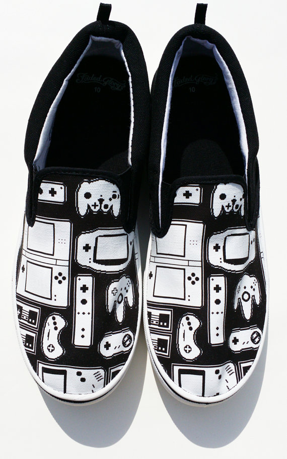 Custom Vans Brand Game Controller Shoes