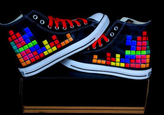 Custom Converse Tetris Shoes