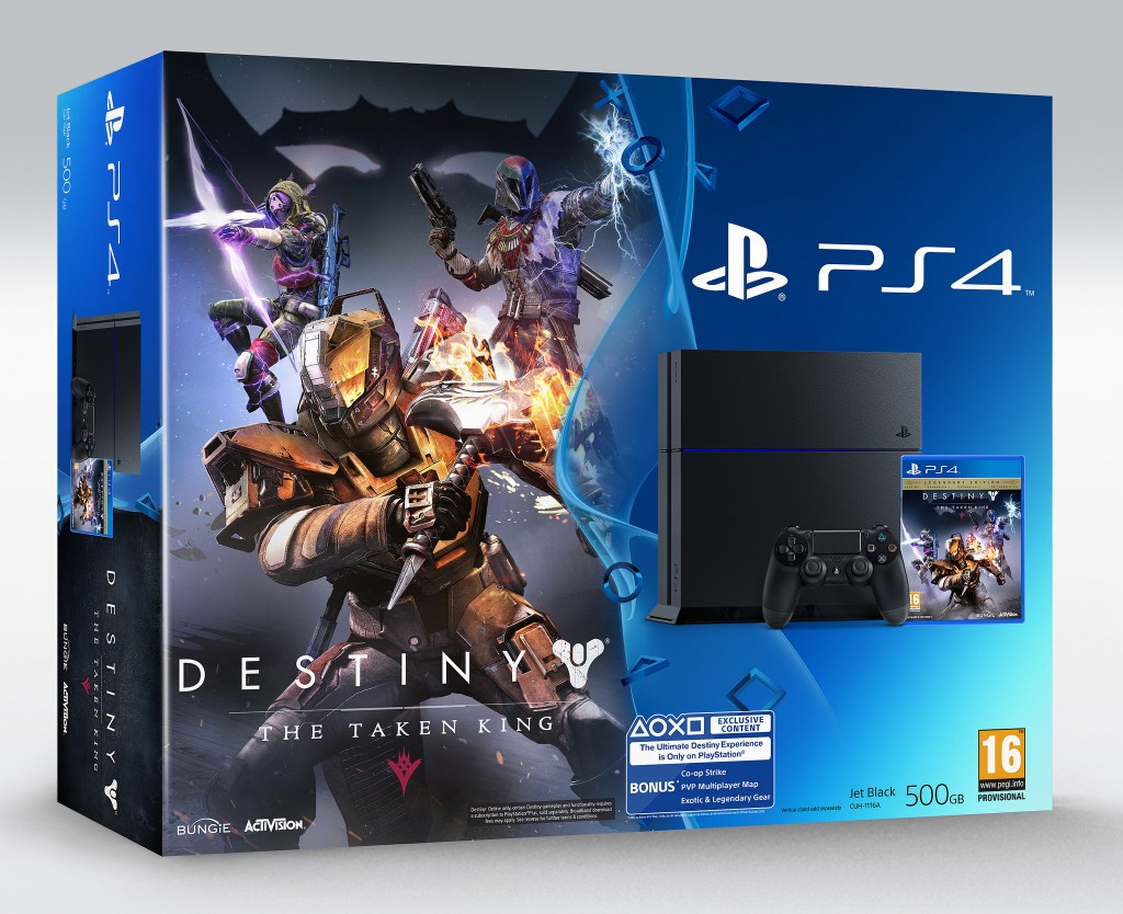 Standard PlayStation 4 bundle with the game Destiny: The Taken King