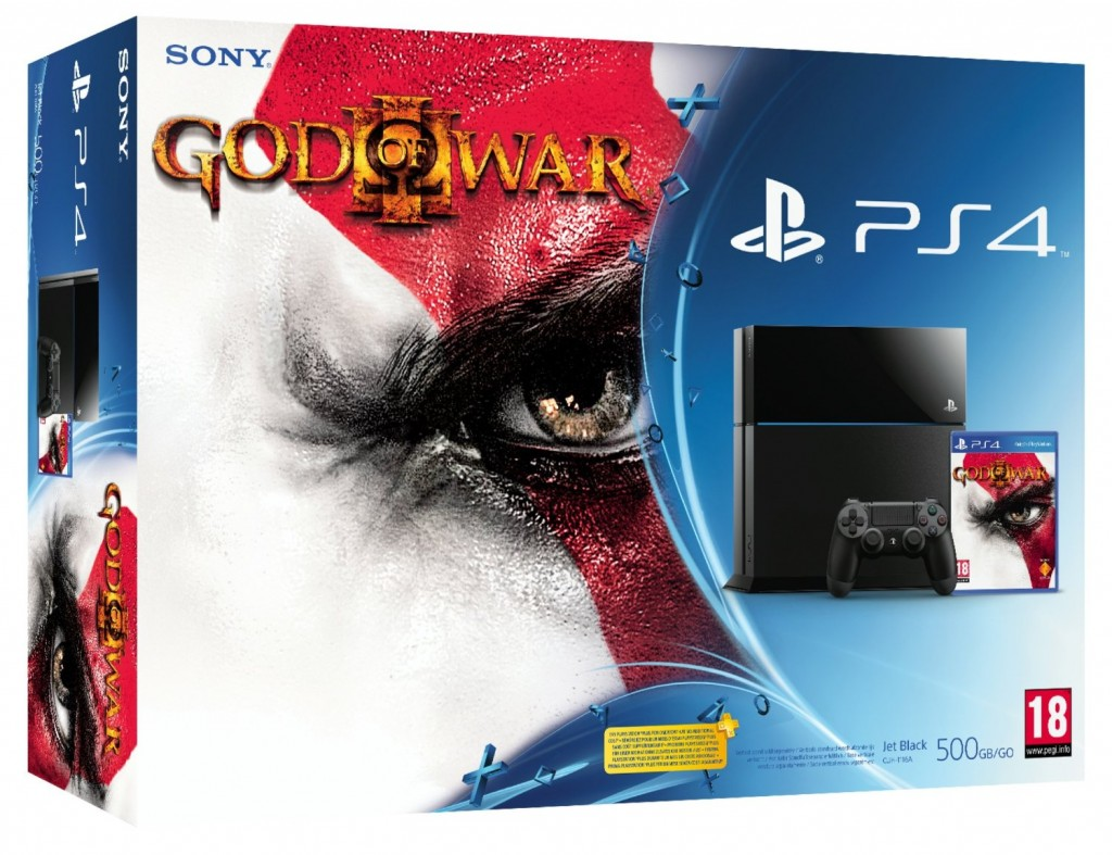 PlayStation 4 bundle with God of War III Remastered game