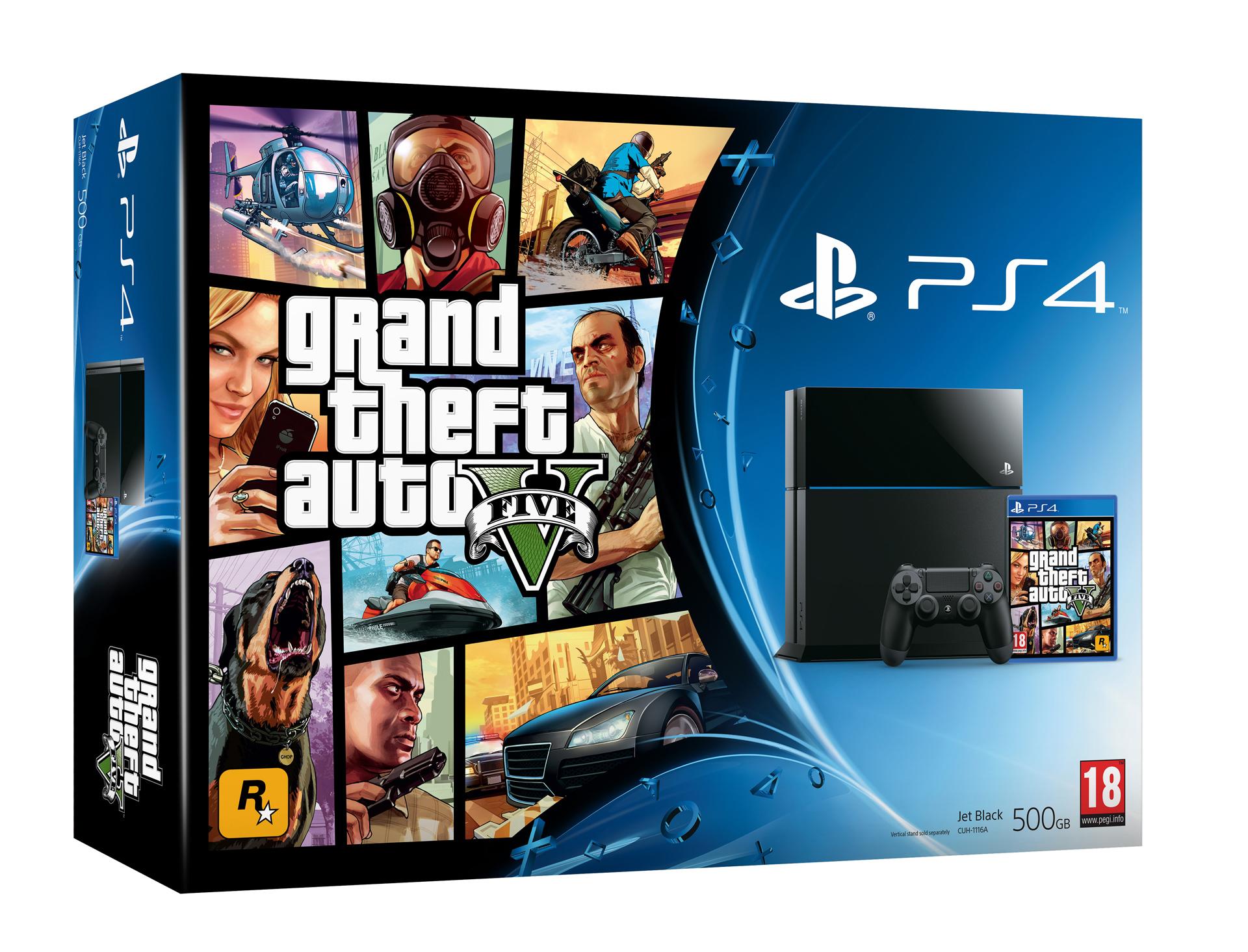 PS 4 500 GB Grand Theft Auto V Bundle Jet Black